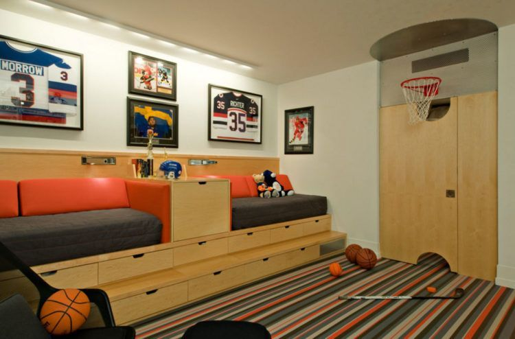 20 Amazing Sports Themed Basement Designs images