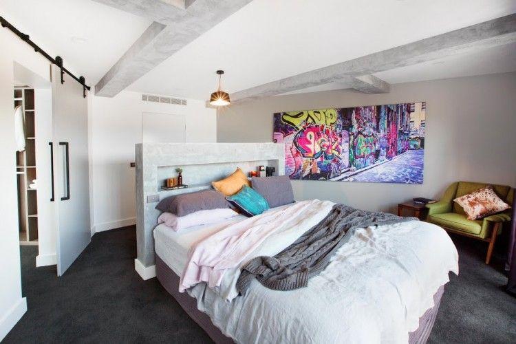 The Block Week Master Bedroom Reveals Industrial Style - The block bedroom designs