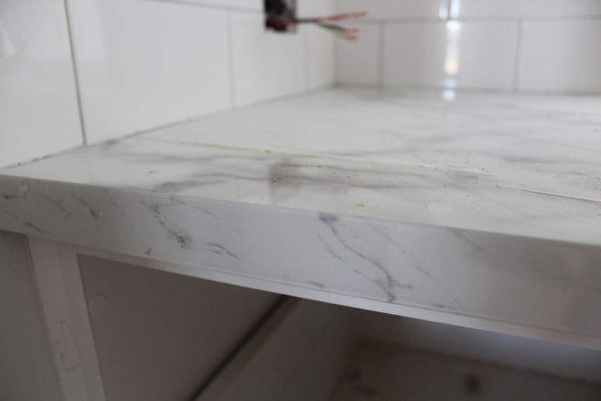 Acrylic Edging On Laminex Benchtop Kitchen Kitchen