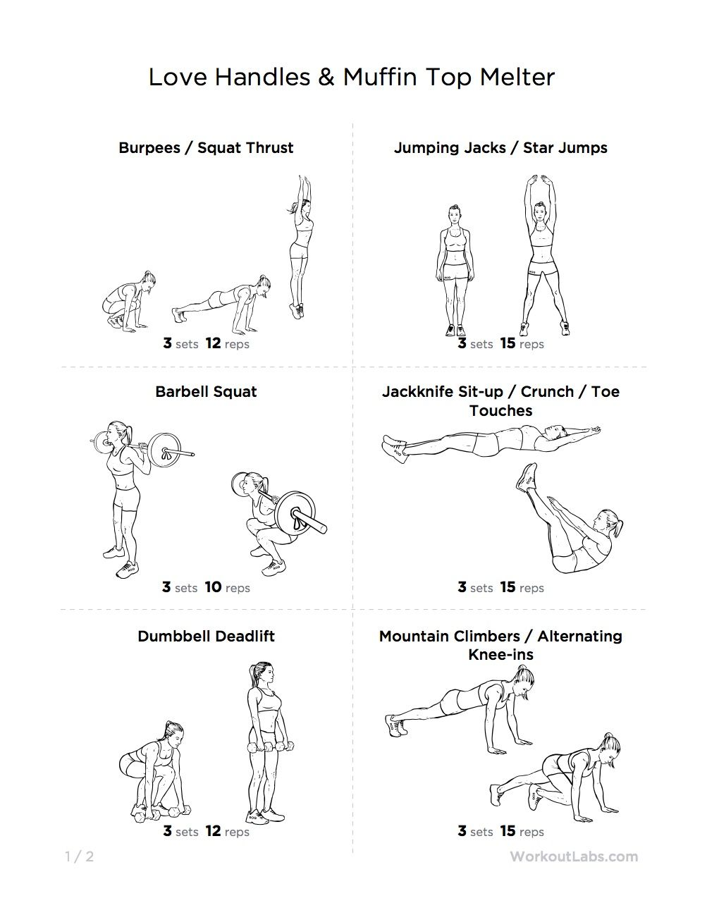 Easy Love Handle Workouts
