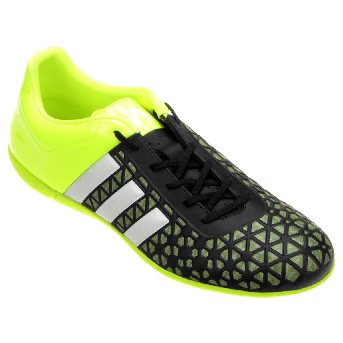 bb2cd40db8 Chuteira Adidas Ace 15 3 IN Futsal Verde e Preto