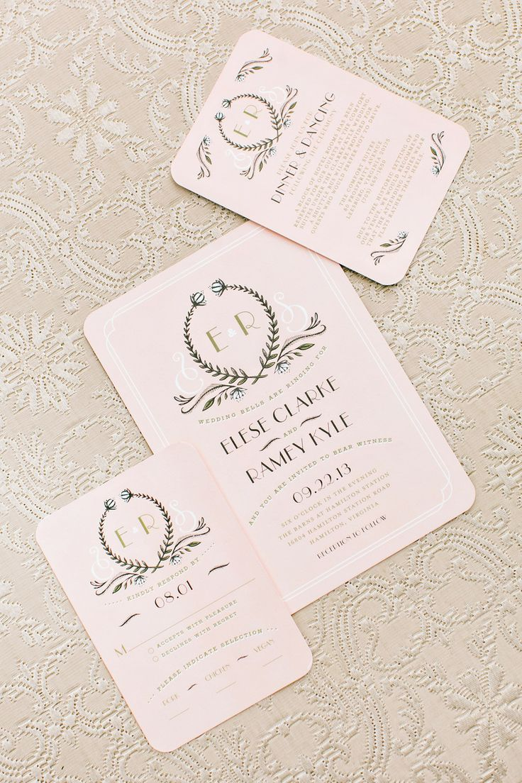 blush pink invitations by httpwwwweddingpaperdivascom