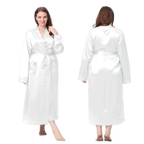 White silk dresses for plus women