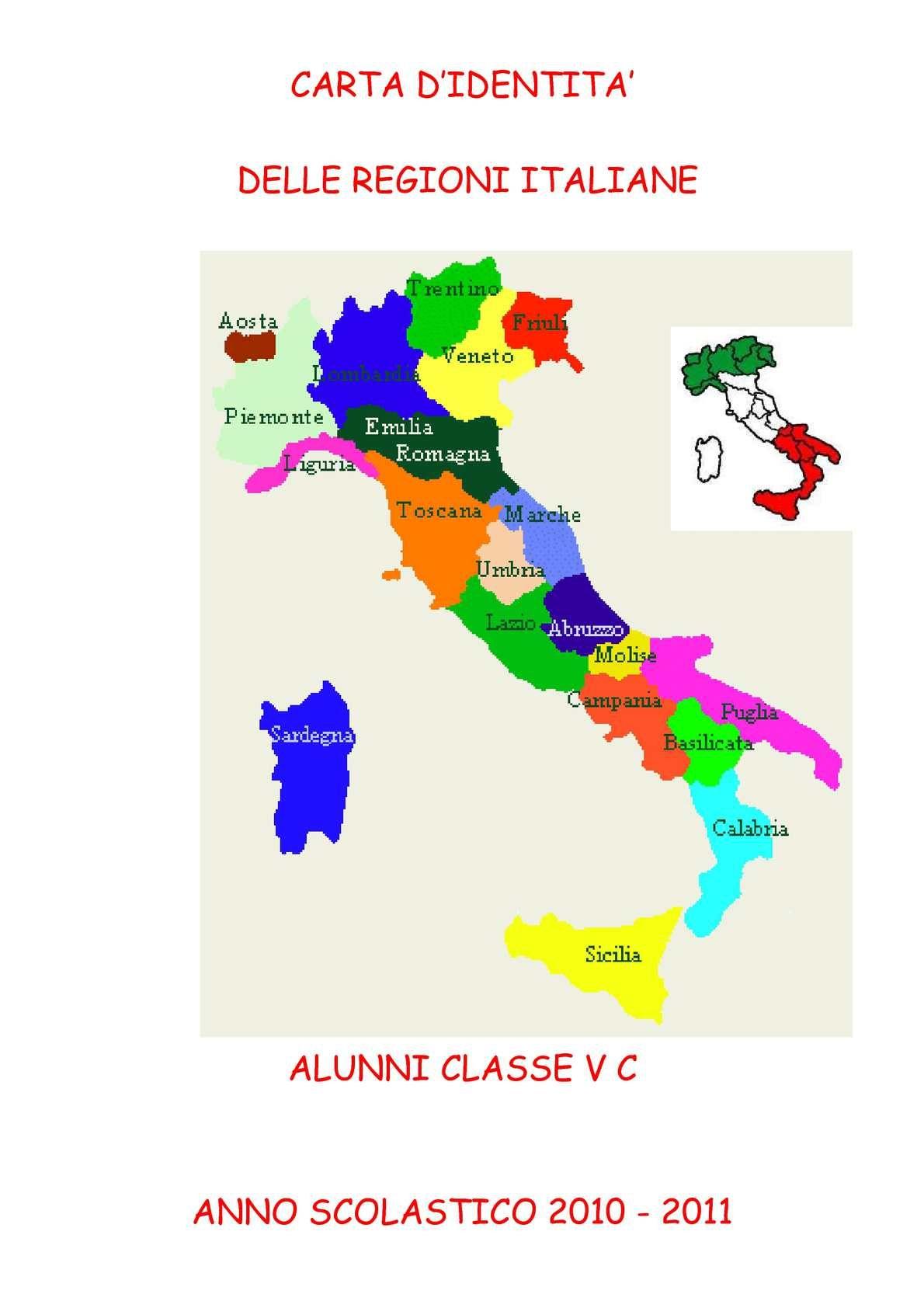 Carta D Identita Delle Regioni Italiane 1 Piemont Emilia