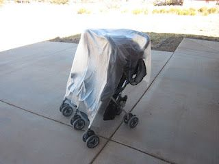 Shower Curtain Turned Into A Stroller Rain Cover I Dont Need One But It Would Also Work For Lawn Furniture