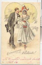 DONNINE  LIBERTY    VIAGGIATA 1901 ILLUSTRATORE ?  BALLO A RILIEVO BELLISSIMA