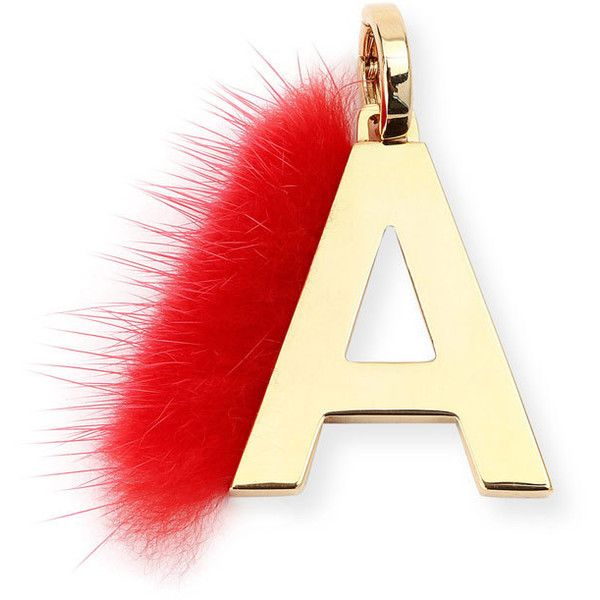 fendi abclick letter a mink charm for handbag 350 liked on