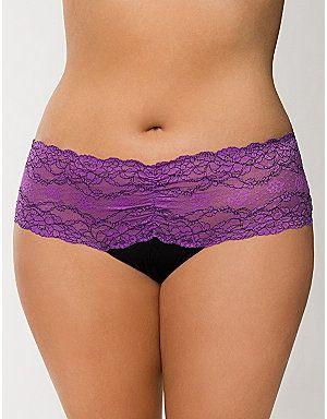3f4abd60654b7 Plus Size Lace Long Line Demi Bra by Cacique