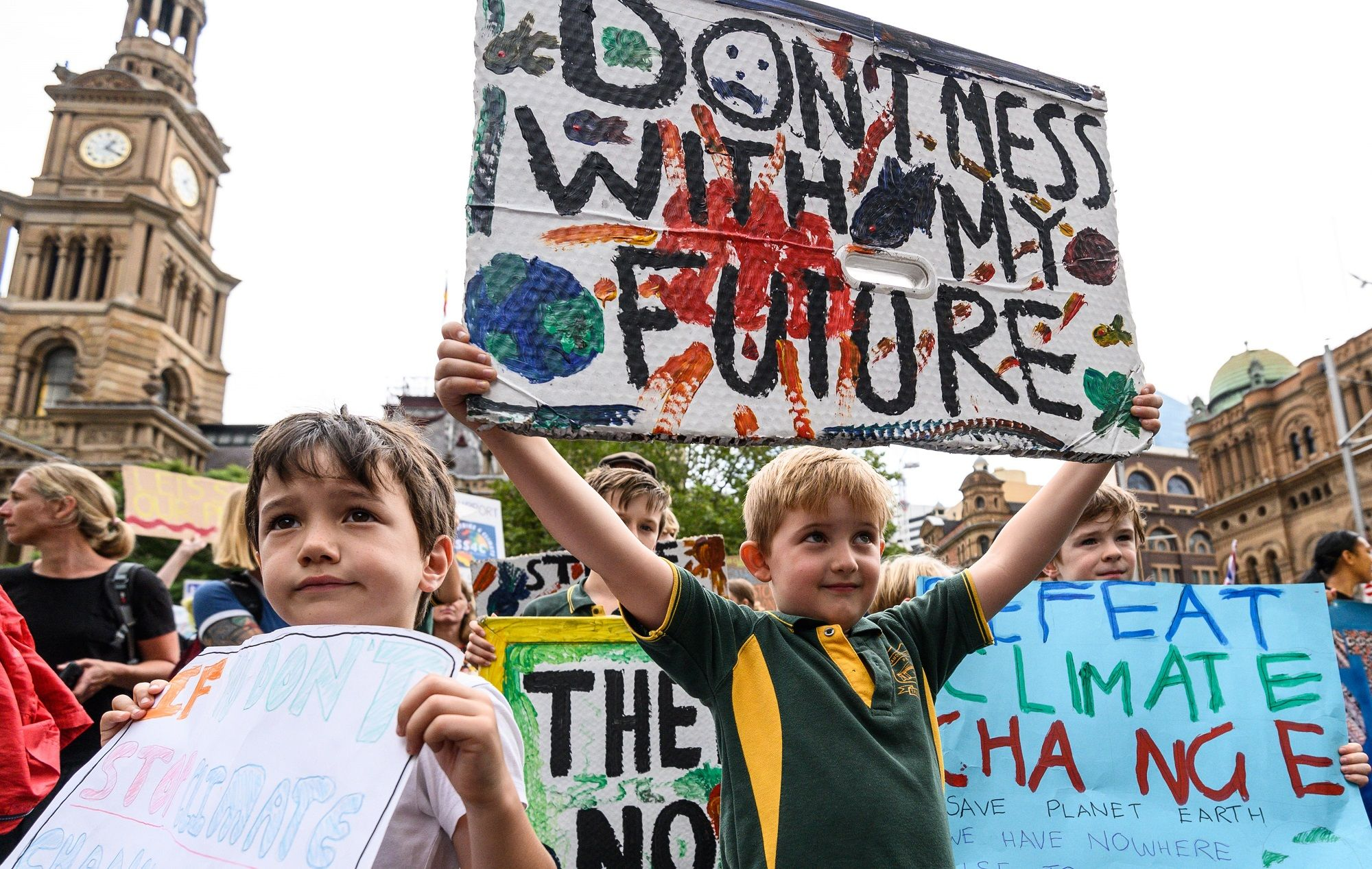 Your Kids Are Absolutely Right To Go On Strike Climate Change Poster Climate Change Protest Signs