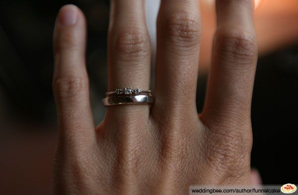 Does The Wedding Band Or Engagement Ring Go On First 10 Rings Pinterest And Weddings