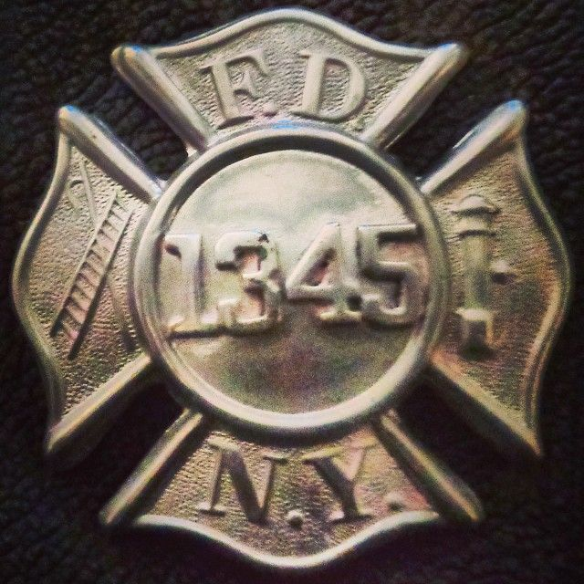 My Great-Grandfather's FDNY badge  One of NY's Bravest from