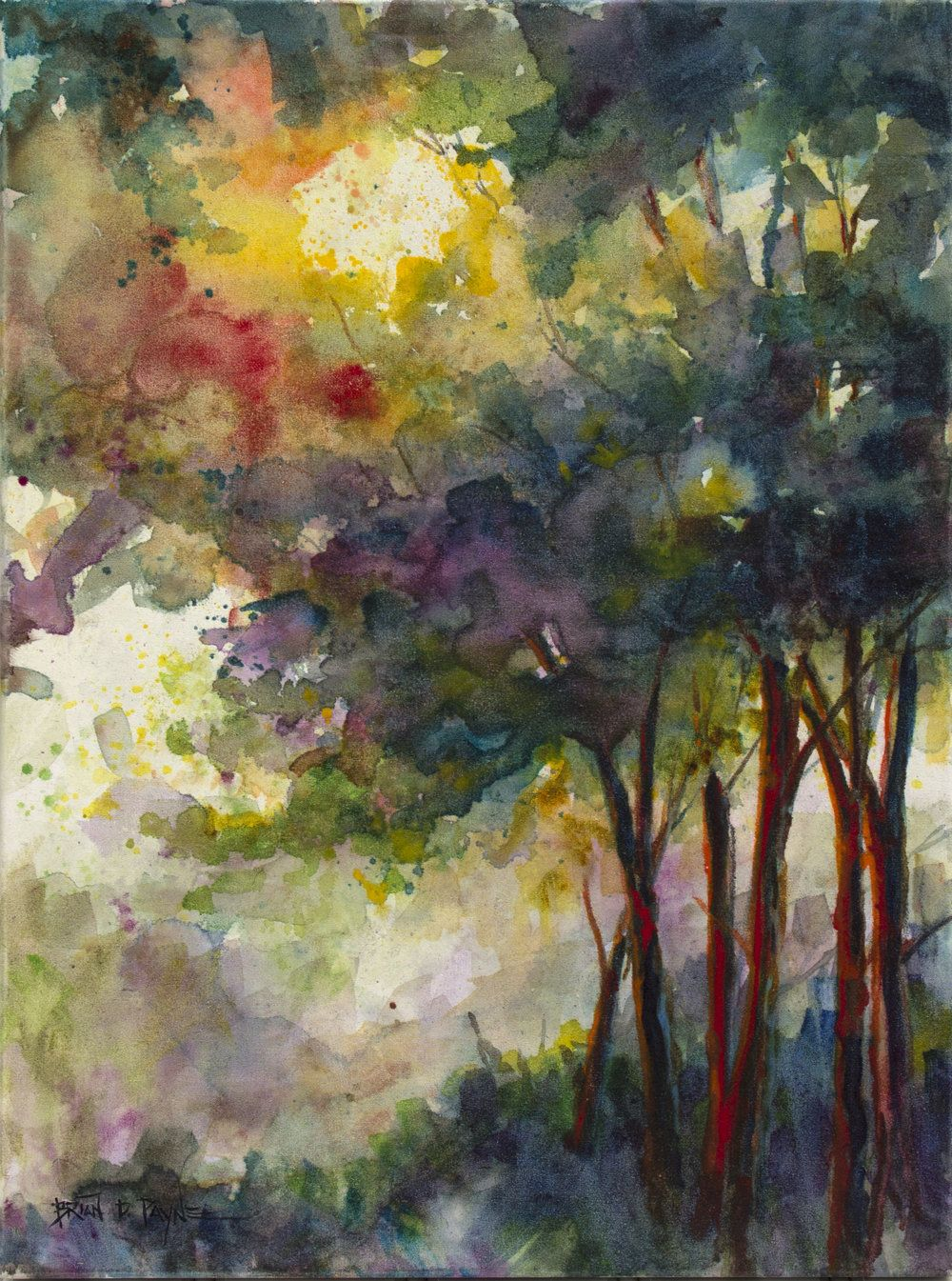 Everglow Art Watercolor Art Watercolor Trees