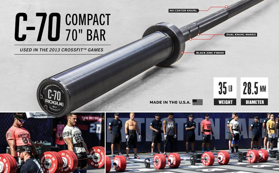 Rogue c bar shorty quot barbell weightlifting