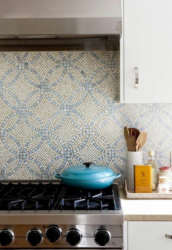 küchenrückwand ideen - mosaikfliesen in der küche | new flat, Kuchen
