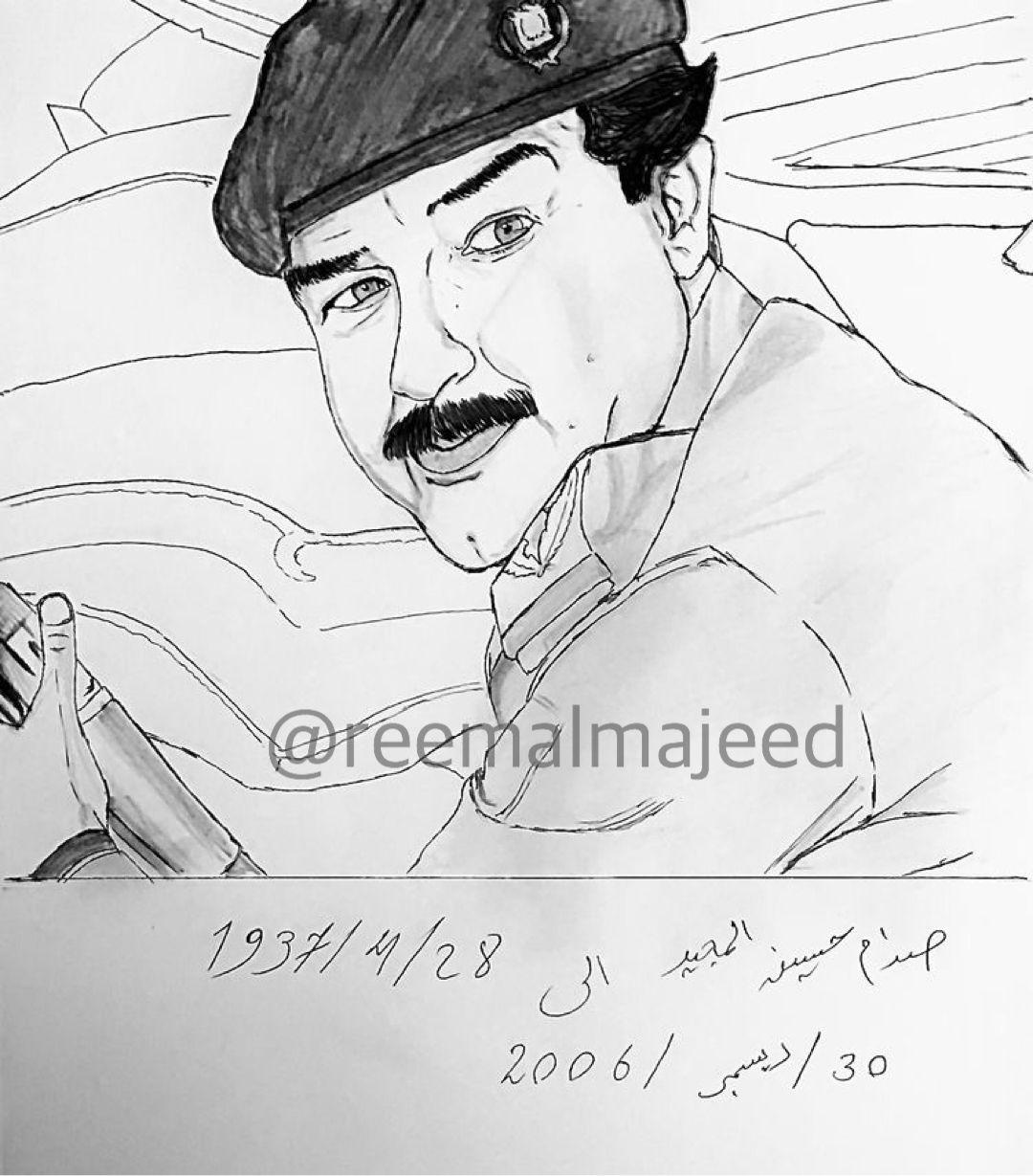 Pin By Reem Almajeed On صدام حسين Male Sketch Male Art
