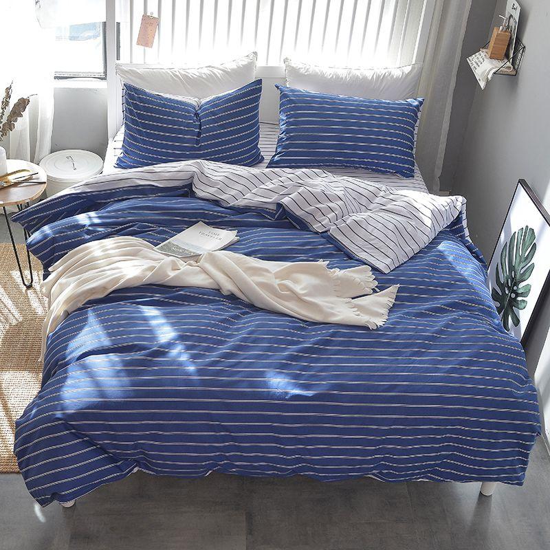 Modern Bedding Linen Bed Linen Bedding Set Twin Cotton Bedlinen Duvet Covers King Size Bedding Sets Full Size Beddin Blue Duvet Cover Duvet Covers Blue Bedding