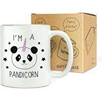 Tasse Fantaisie i'm a pandicorn licorne 325.3ml tasse - drôle panda fantaisie thé