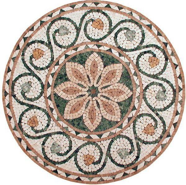 Mosaic Medallion DIY And Crafts Pinterest Mosaic, Mosaic Art   Glasmosaik  Fliesen Braunbeigegste Wc