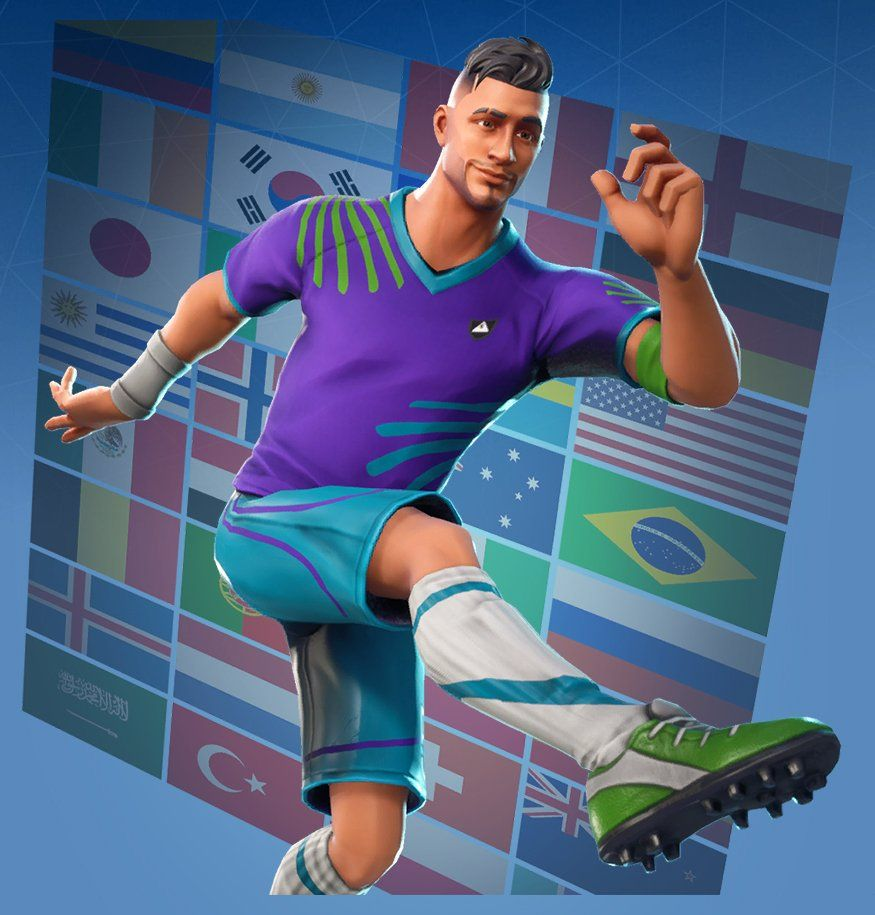 Fortnite Midfield Maestro Skin Outfit Pngs Images Pro Game Guides In 2020 Soccer Player Costume Midfielder Soccer Game Guide