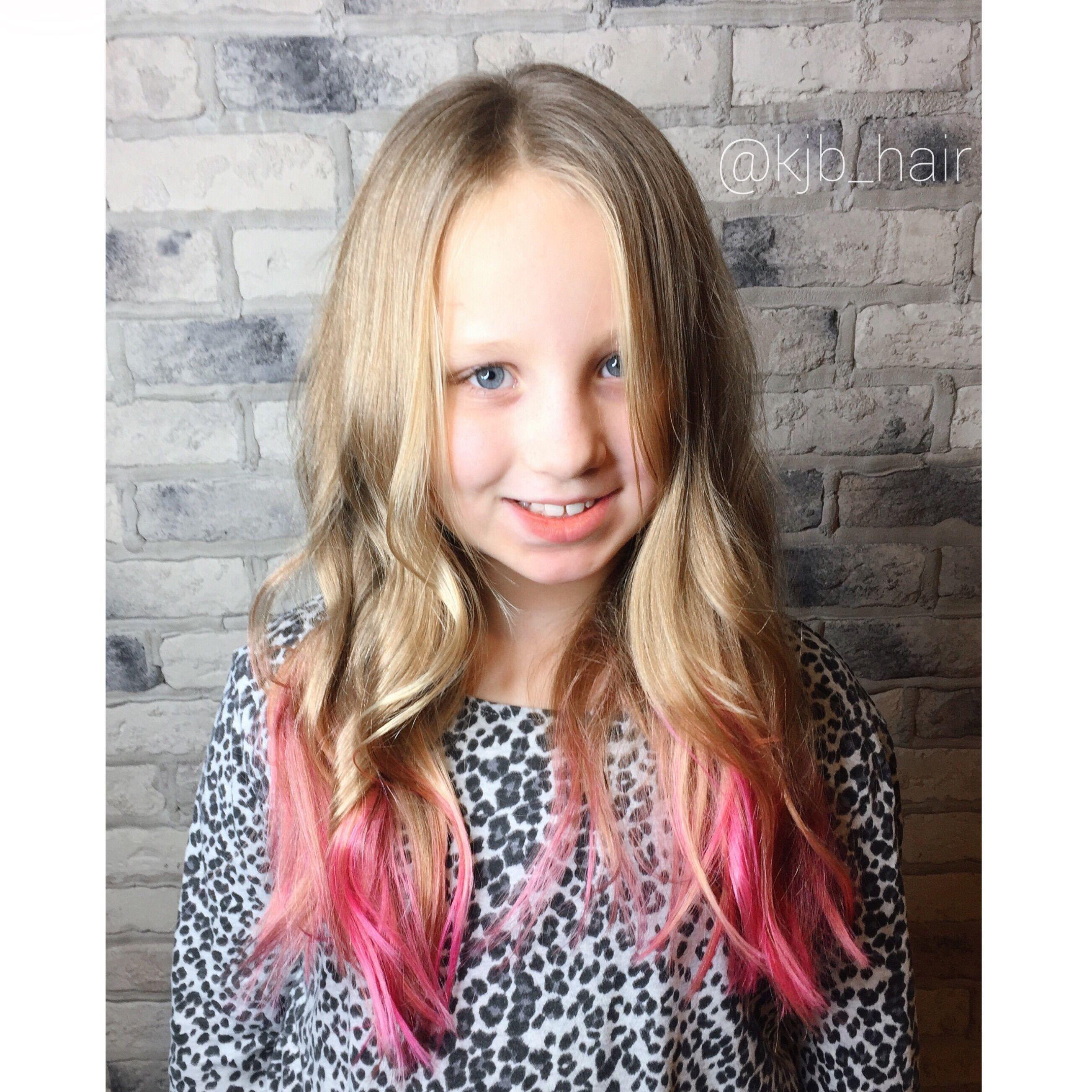 pink hair. kids pink hair. pink tips | hair hair (my work