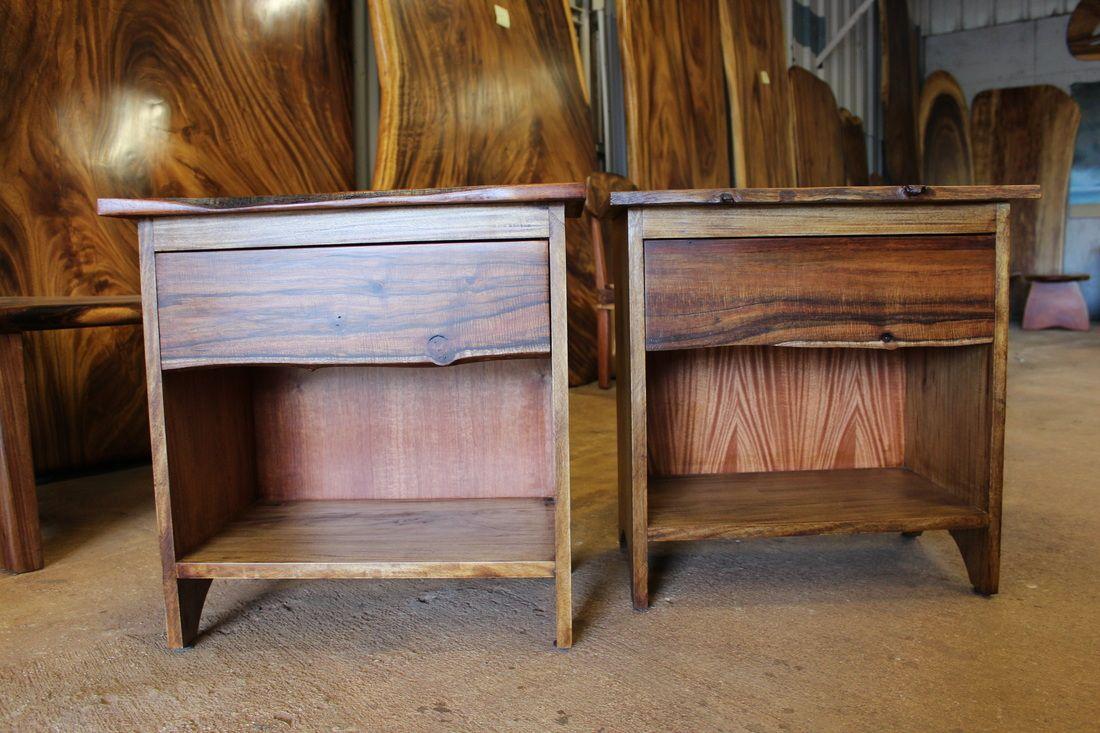 High Quality Matching Night Stands, Koa U0026 Monkey Pod WoodWorkingHawaii.com Koa Furniture    Kini @