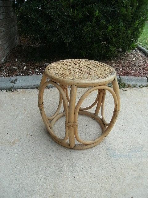 Rattan #Table/End Table/FERN STAND/vintage/WICKER.