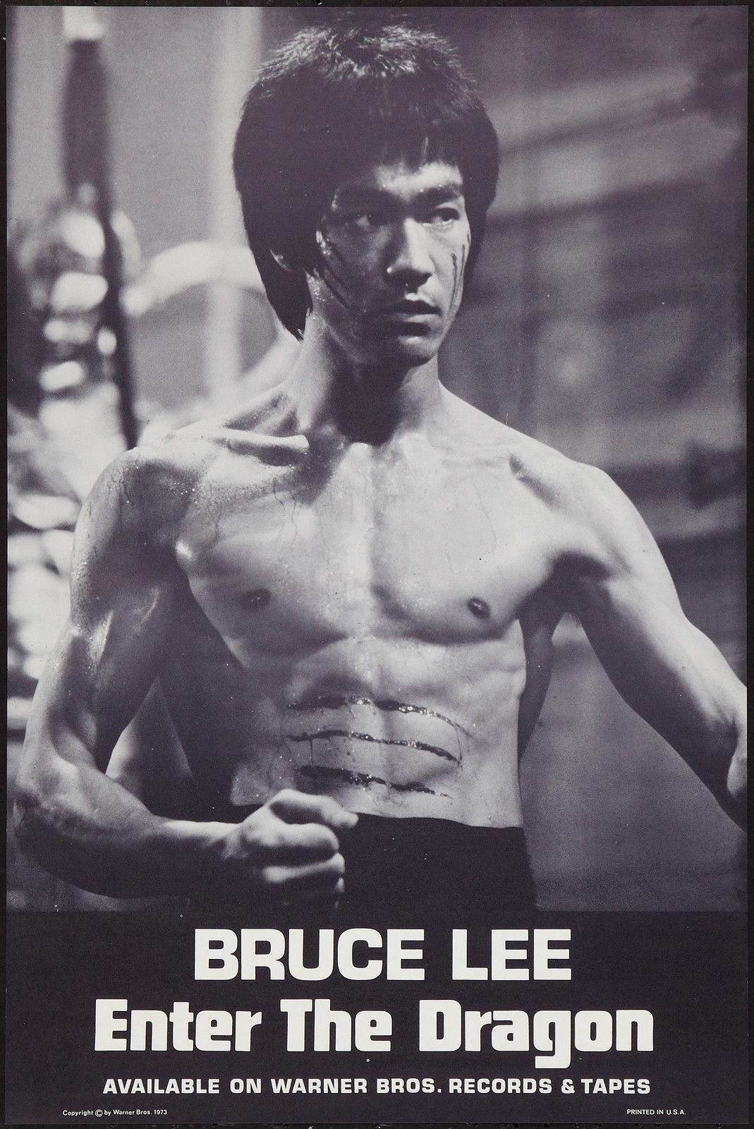 Enter The Dragon Original 1973 Soundtrack Poster Bruce Lee Very