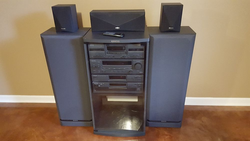 KENWOOD HOME STEREO SYSTEM, AMPLIFIER, CD CHANGER, TUNER, & DUAL CASSETTE DECK #Kenwood