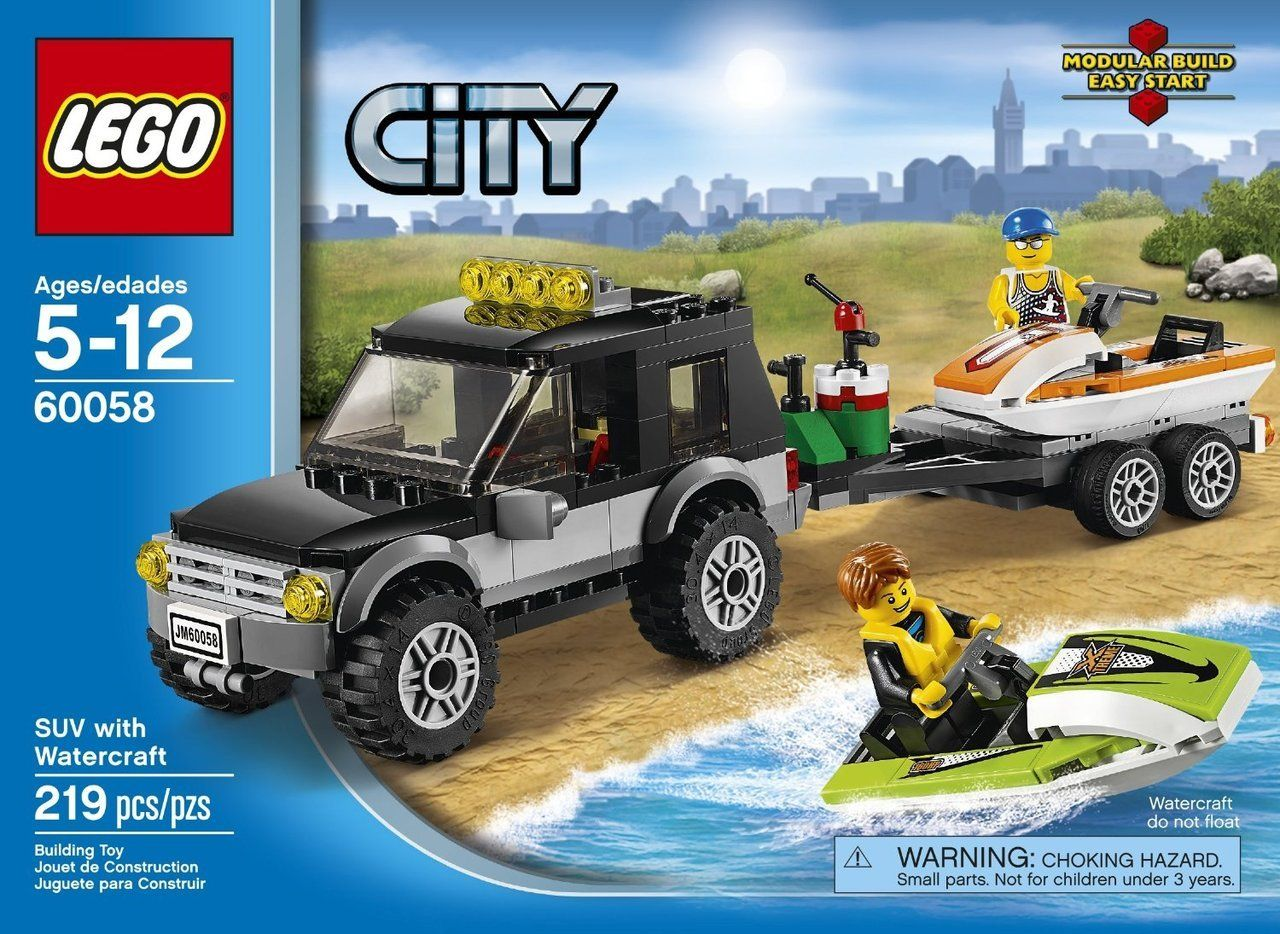 Pin lego 60032 city the lego summer wave in official images on - Lego City Suv With Watercraft 60058 Discount Toys Usa