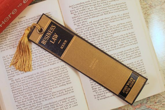 Business Law Bookmark - Leather Bookmark - Book Spine Bookmark - fresh invitation to tender law definition
