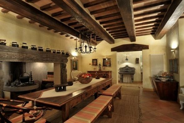 Dream Rustic Kitchens one story tuscany rustic homes | it be neat for your large tuscan