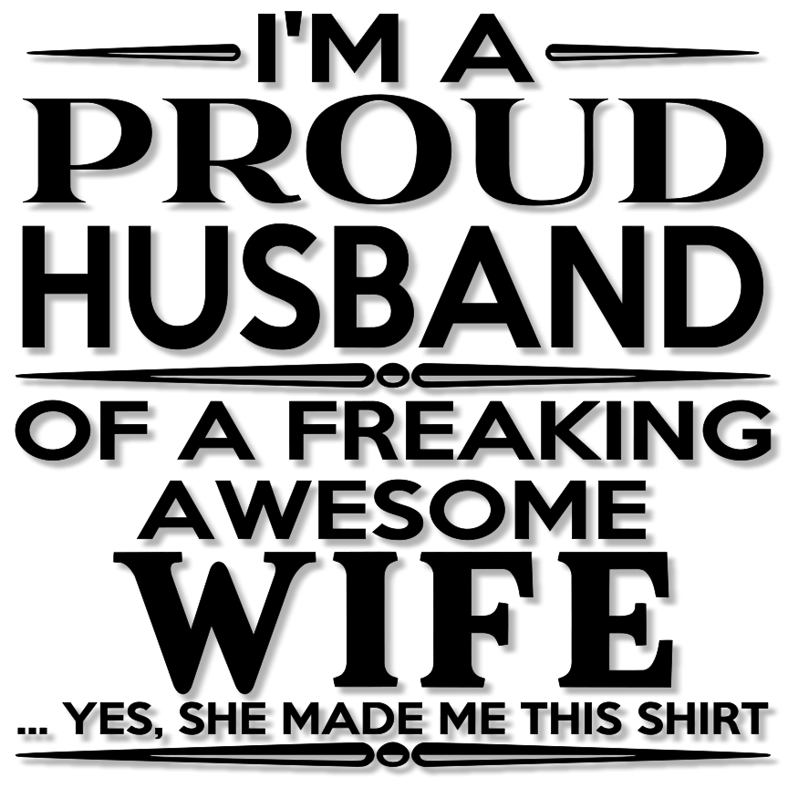 Download Proud Husband and Wife SVG Word Art - Tidbits and ...
