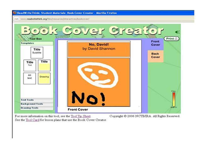book cover creator httpwwwreadwritethinkorg
