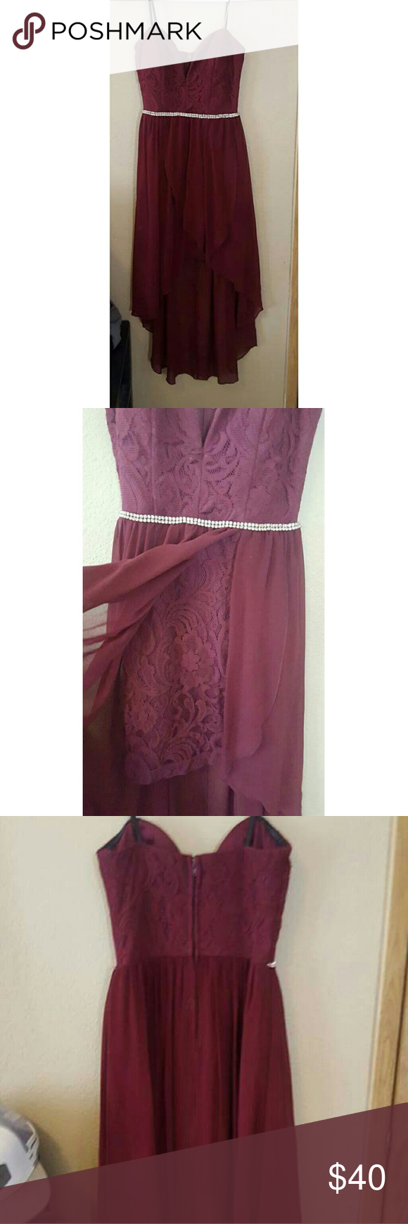 Maroon formal/cocktail dress Like new! No snags or stains. City ...