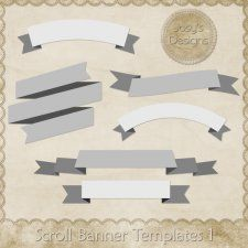 scroll banner layered templates 1 by josy banners banner template