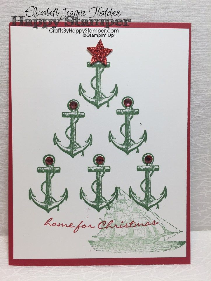 too cute great nautical christmas card stampin up the open sea - Nautical Christmas Cards