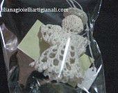 Angelo-decorazione natalizia creazione lavorata ad uncinetto