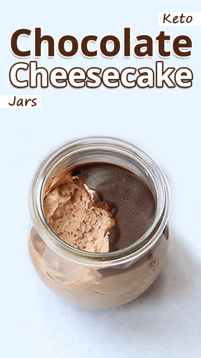Keto Chocolate Cheesecake Jars #ketodessert