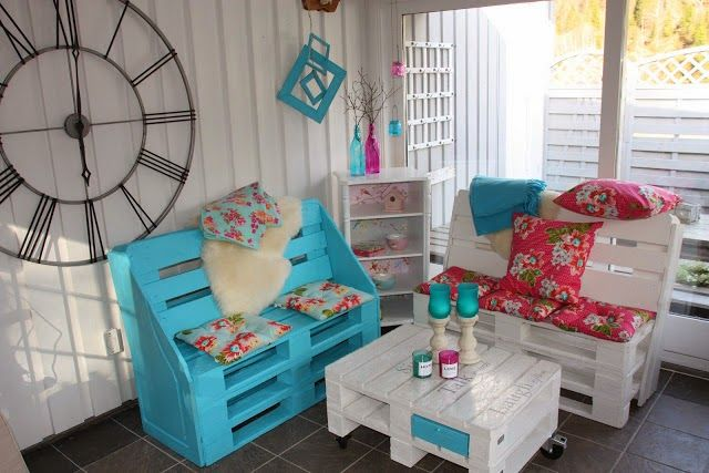 Pallet Patio Furniture - inspiration only