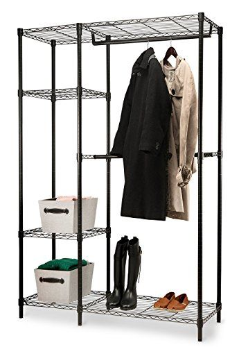 Homeit Garment Rack Heavy Duty Shelving Wire Shelving Black Closet Shelving Garment  Racks    More Info Could Be Found At The Image Url.