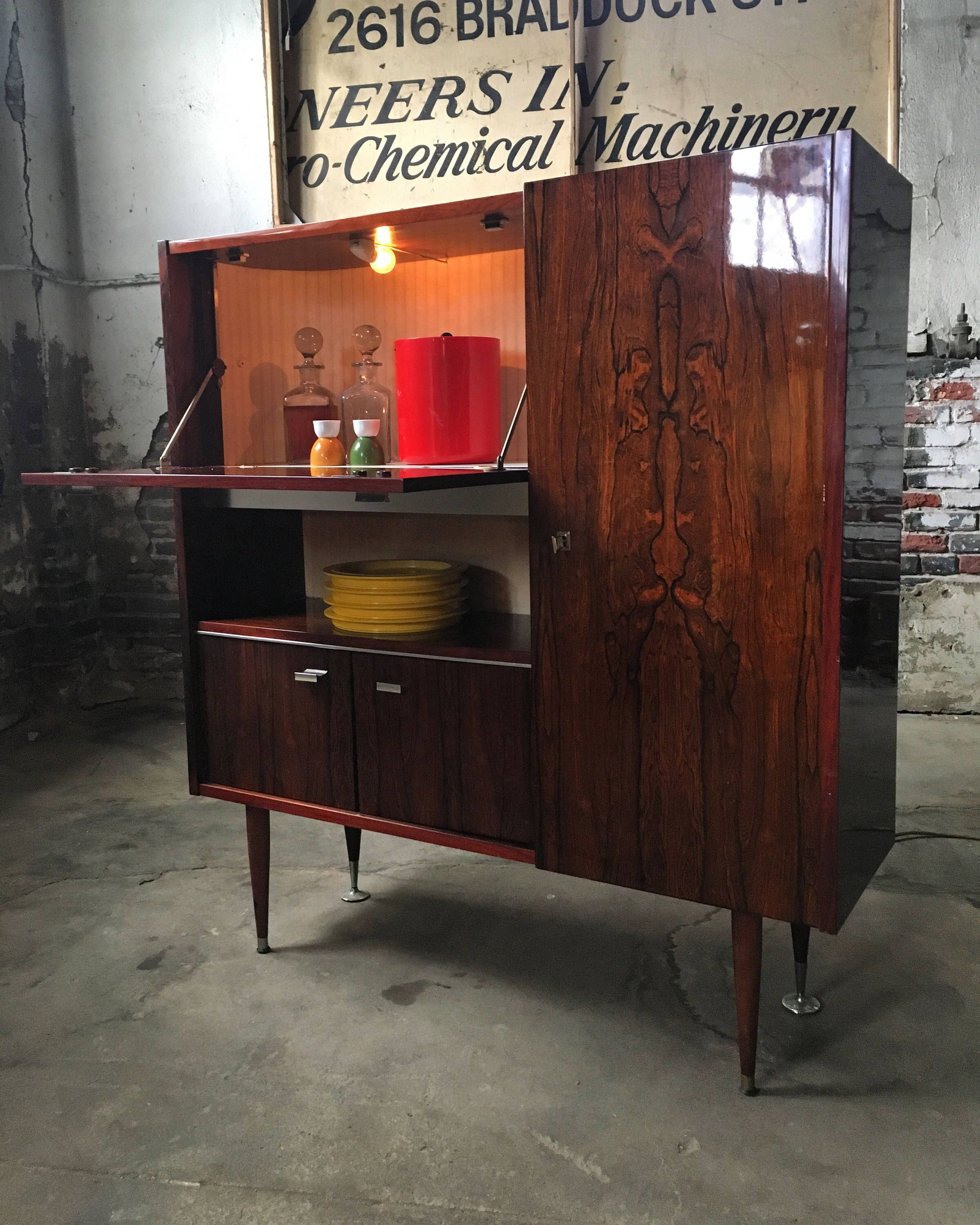 Mid Century Console Cabinet Etsy