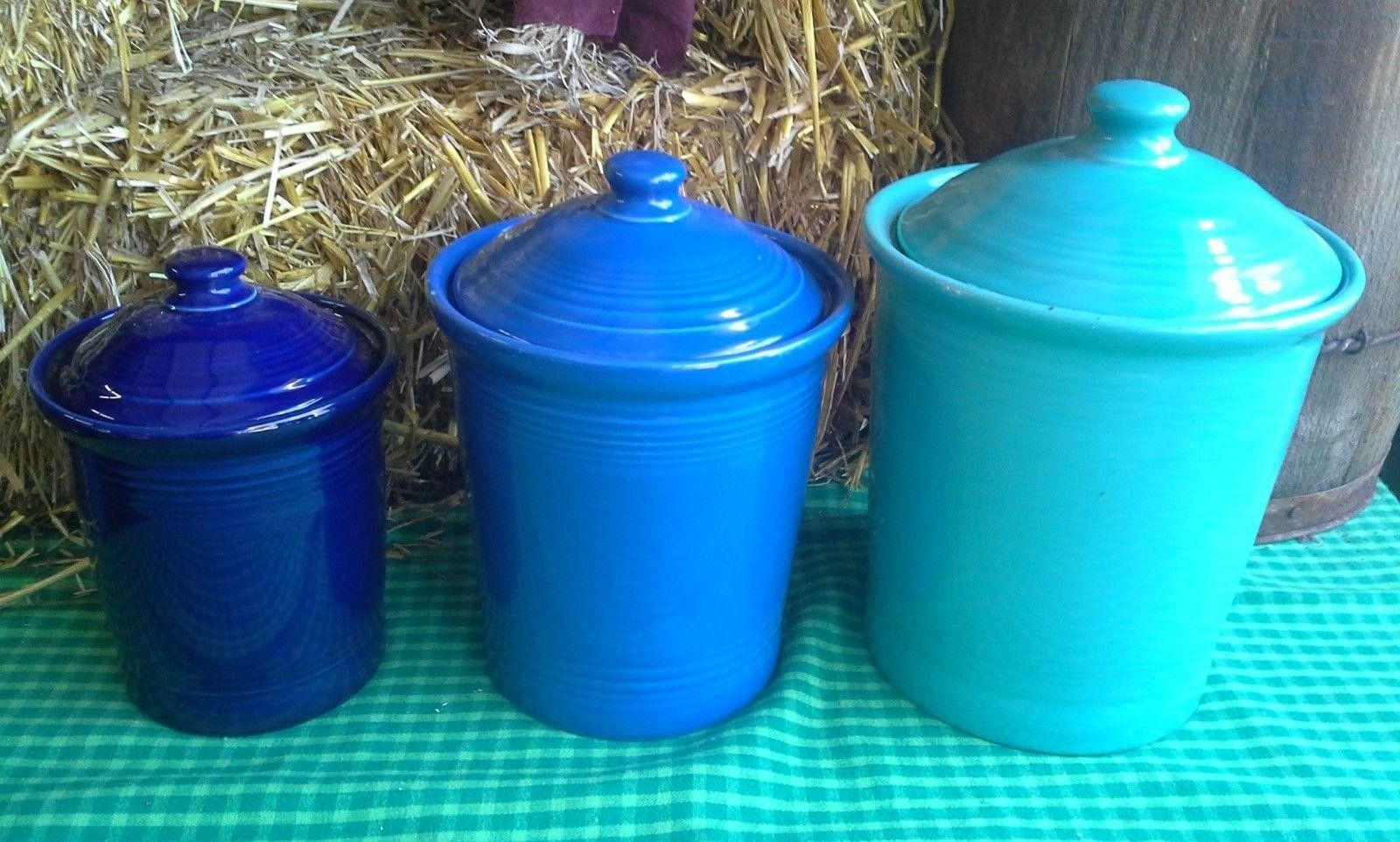 Fiesta® Dinnerware Canister Set in Cobalt, Lapis and… | Fiesta ...