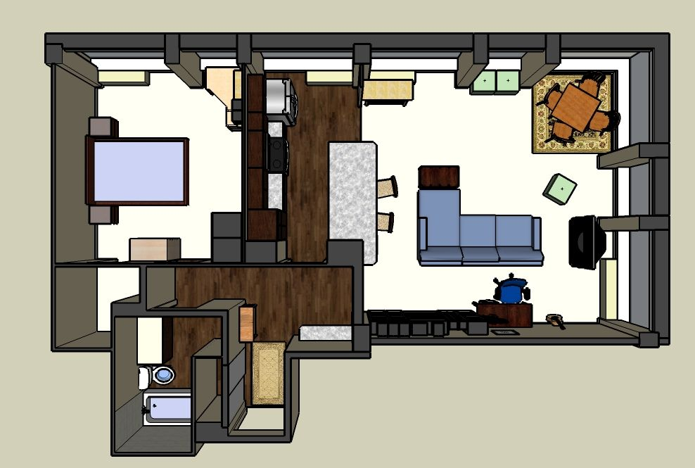 Apartment Floor Plan SketchUp   Help Residents Feel At Home Before They Even  Move In.