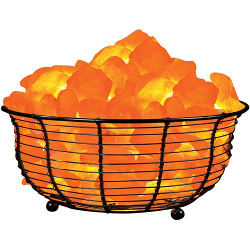 Himalayan Salt Lamp Home Depot Prepossessing Himalayan Ionic Natural Salt Basket Lamp Wide  Natural Salt Design Decoration
