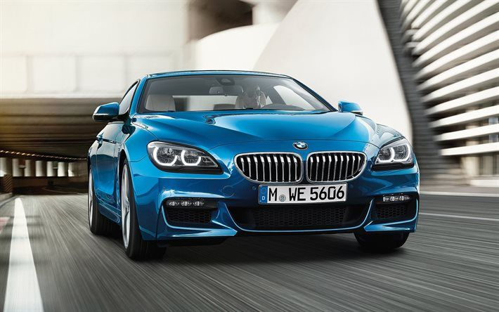 Download Wallpapers Bmw 640i Coupe 2017 Blue Bmw Gran Coupe
