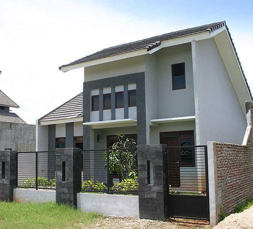 Design Interior Rumah Minimalis Type 38  pagar fence 1 17 gambar model pagar rumah minimalis