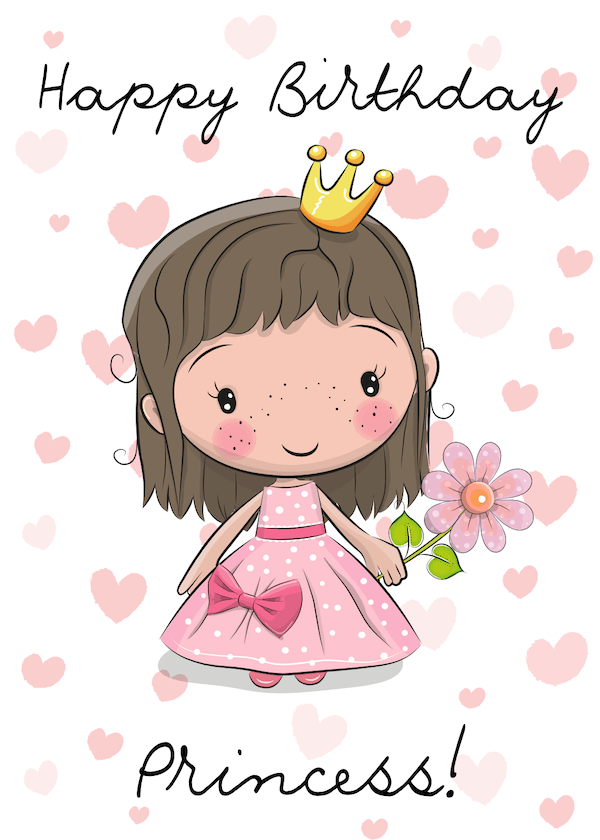 Happy Birthday Cartoon Images : happy, birthday, cartoon, images, Printable, Birthday, Cards, Adults, Print, Happy, Cards,, Little, Girl,