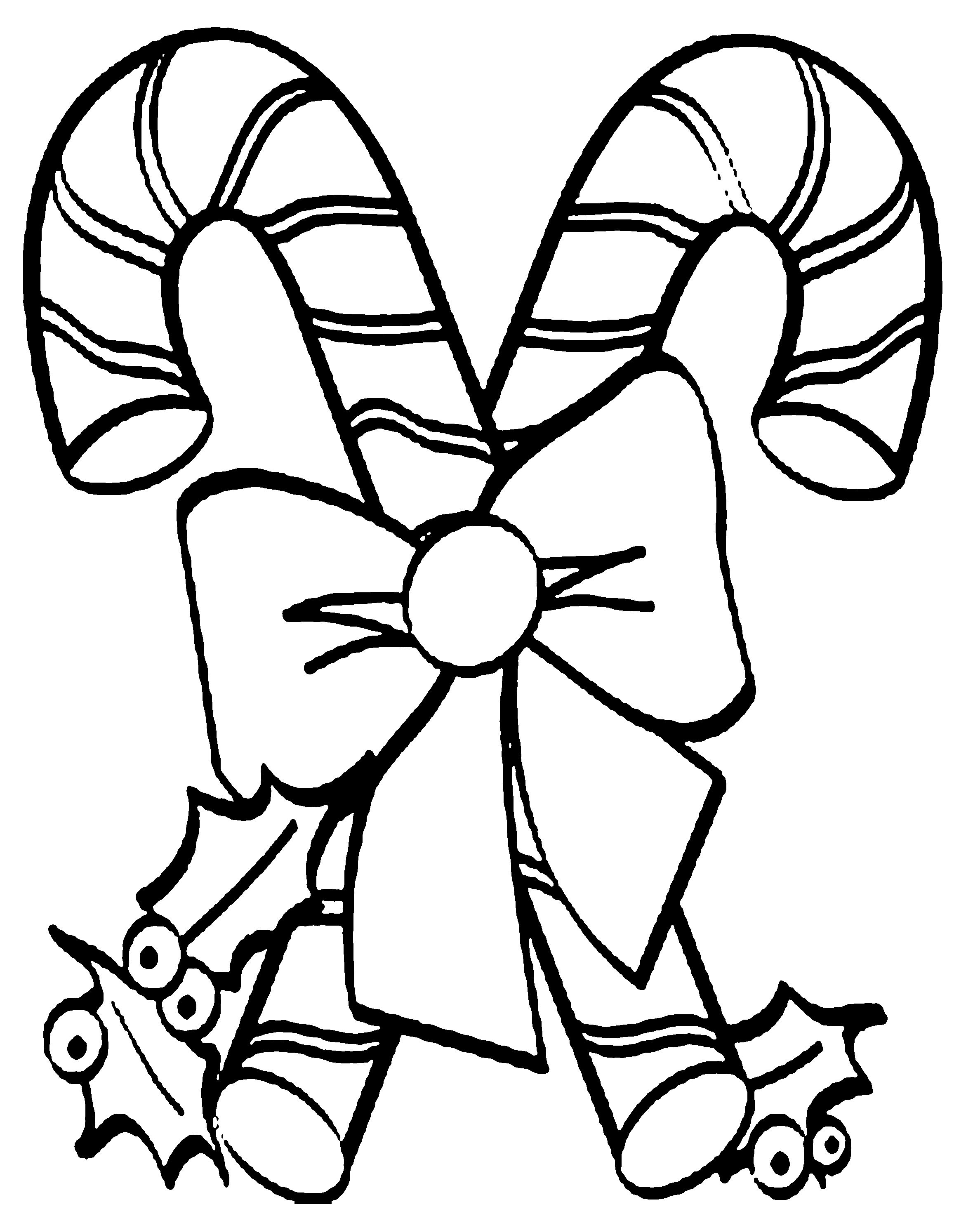 Christmas Candy Cane Coloring Pages With Lovely Christmas