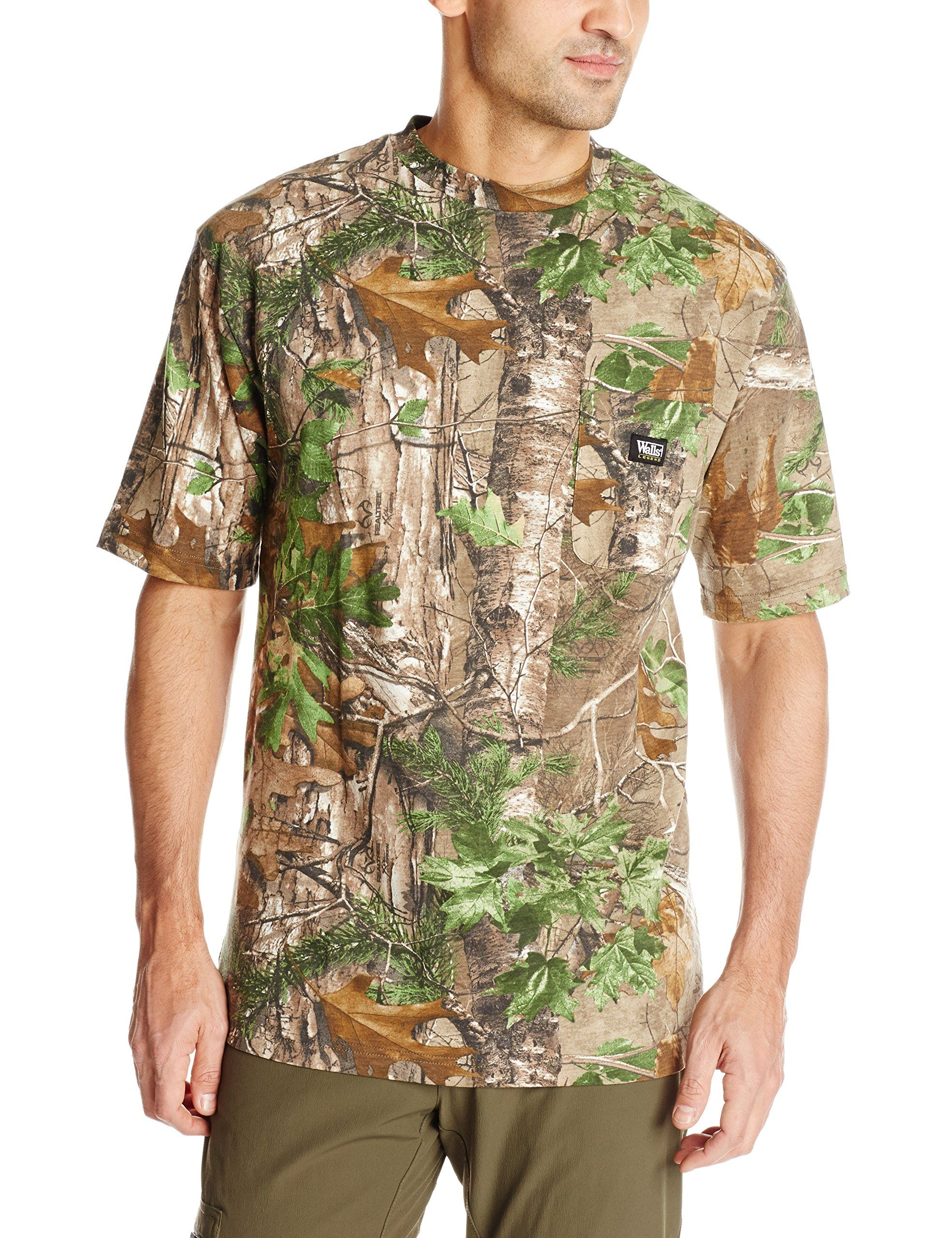 9a6246fa Walls Men's Short Sleeve Camo T-Shirt, Realtree Extra Green, X-Large ...