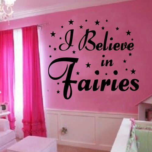 Photo of Wall sticker I Believe In Fairies East Urban Home color: silver, size: large